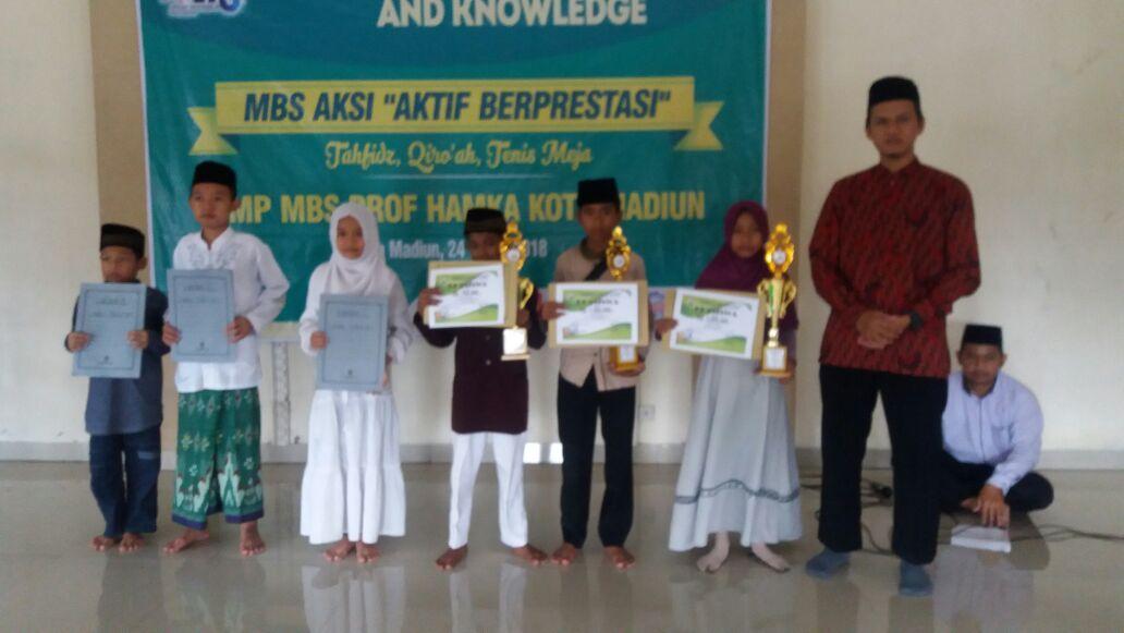 Dua Siswa MIN  2 Kota Madiun Turut Dulang Prestasi  dalam Ajang MTQ di MBS Prof Hamka Madiun
