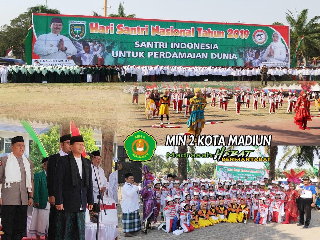 """Gema Nada """"ARSENIO"""" MIN 2 Kota Madiun Semarakkan Upacara Hari Santri Nasional (HSN) Tahun 2019"""