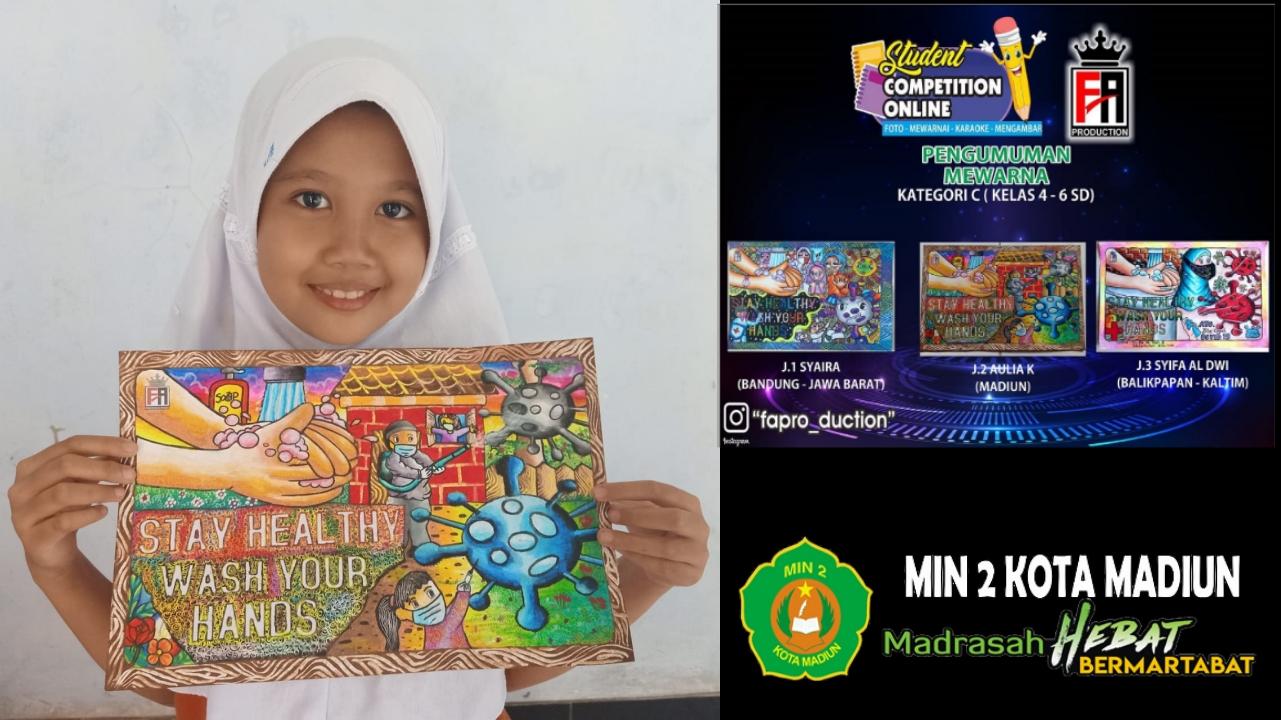 Aulia Karmutia Mawardi Raih Juara II Lomba Mewarna Student Competition Online Tingkat Nasional