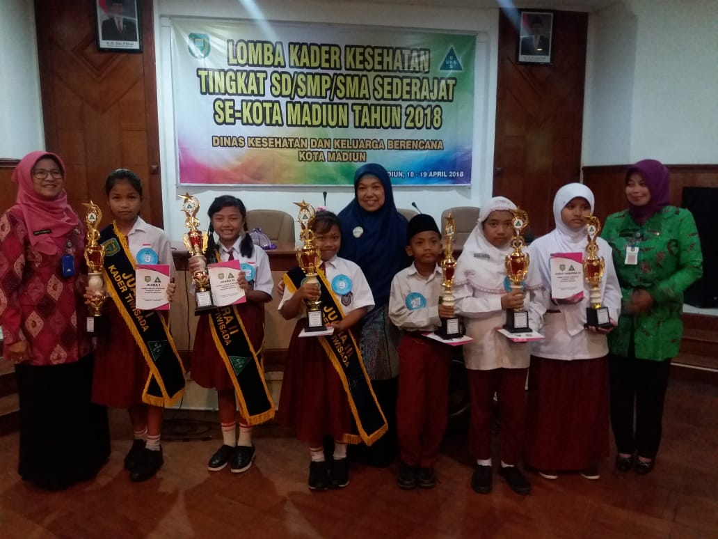 Distian Aulya Maharani  Siswi MIN 2 Kota Madiun Juara Harapan II Lomba Kader Kesehatan SD/MI Se-Kota Madiun