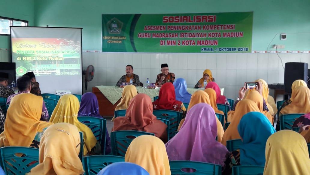 Sosialisasi APKGM  Guru MI Di MIN 2 Kota Madiun