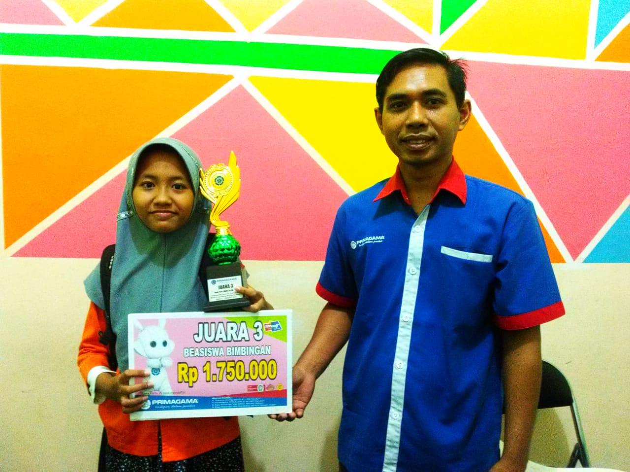 Siswi MIN 2 Kota Madiun Juara III Semifinal Primagama Mencari Juara