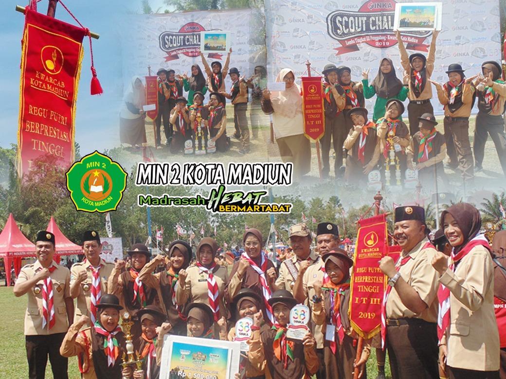 Regu Pramuka Putri MIN 2 Kota Madiun  Juara I   LT III Kota Madiun Tahun 2019