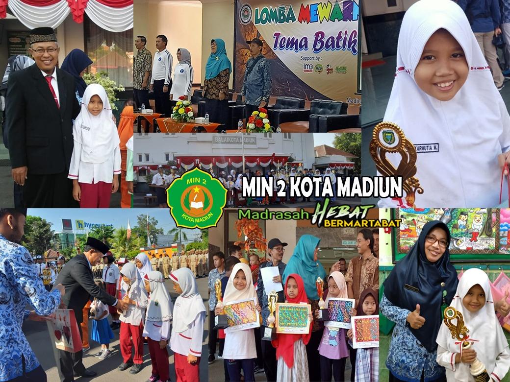 Aulia Karmutia Mawardi, Siswi MIN 2 Kota Madiun Raih Juara I Lomba Mewarna   Hari Batik Nasional