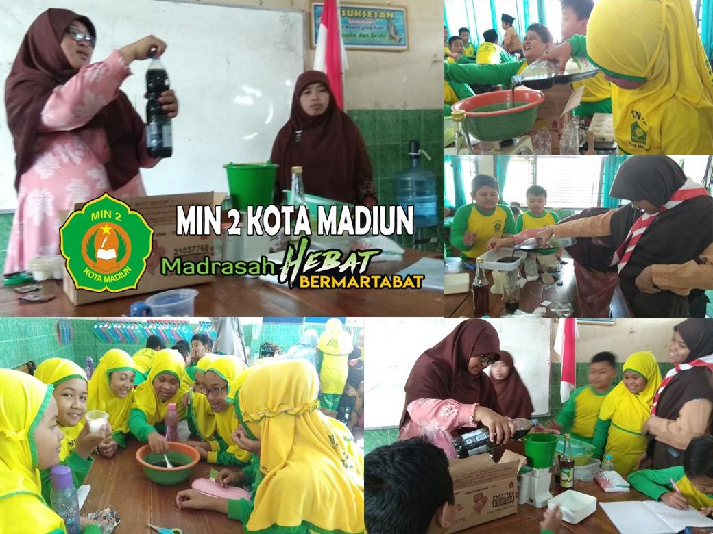 Praktek pemanfaatan limbah minyak untuk pembuatan sabun
