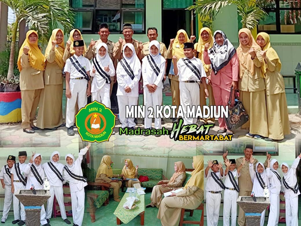 Visitasi Tim Penilai Lomba Sekolah Sehat (LSS) di MIN 2 Kota Madiun