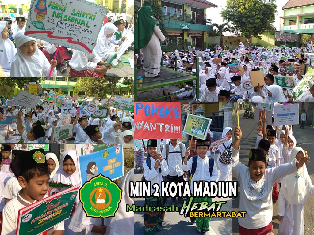 Semarakkan Hari Santri Nasional (HSN) 2019, MIN 2 Kota Madiun Gelar Pawai