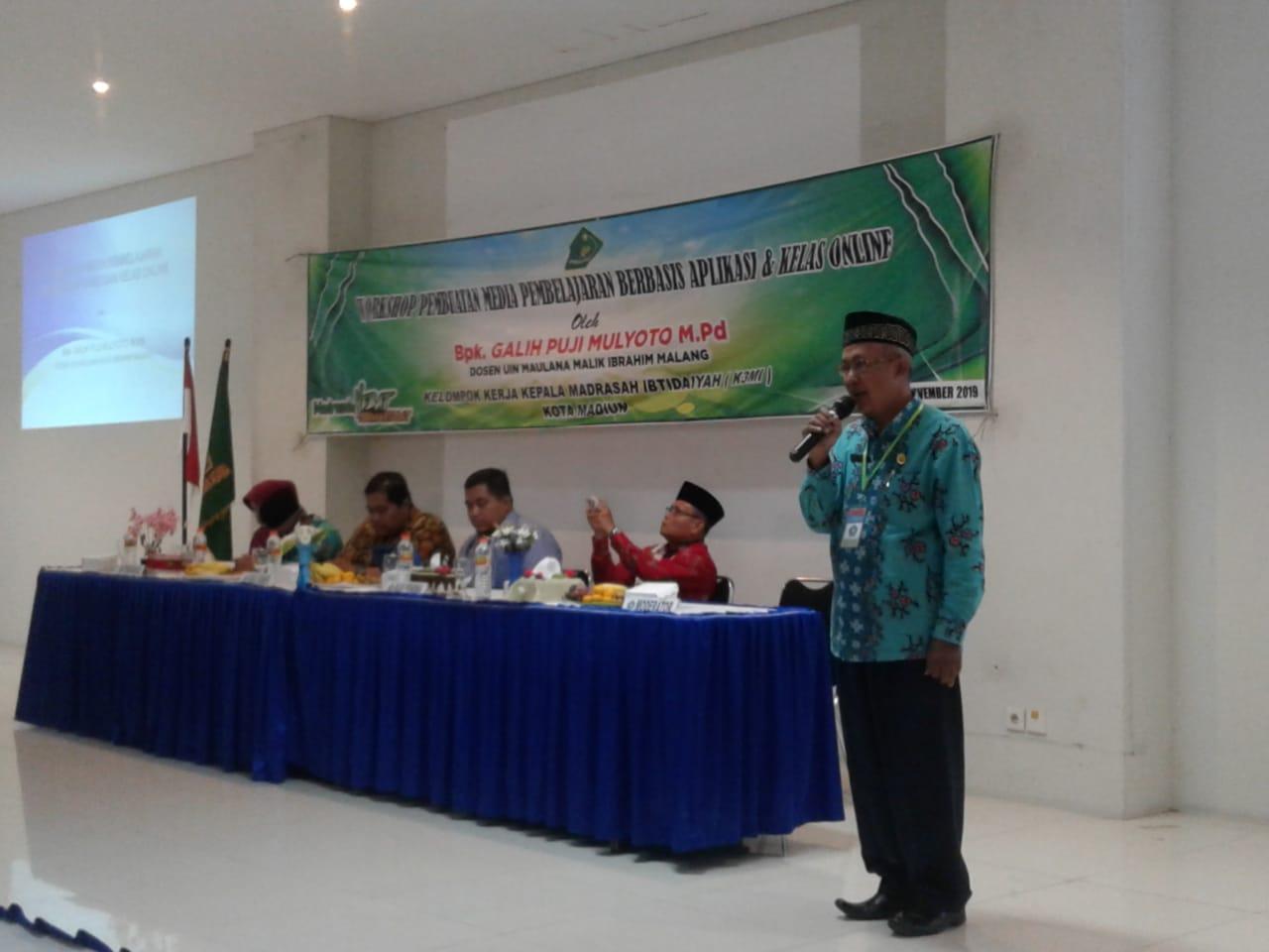 34 Guru MIN 2 Kota Madiun Mengikuti Workshop Pembuatan Media Pembelajaran Berbasis Aplikasi dan Kelas Online