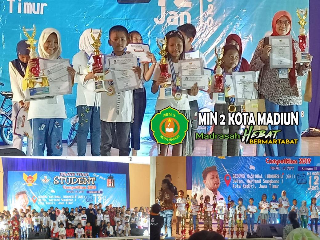 """Juara I mewarna dan menggambar Tingkat Provinsi Jawa Timur dalam ajang Grand Final """"Student Competition Season III Tahun 2019"""""""