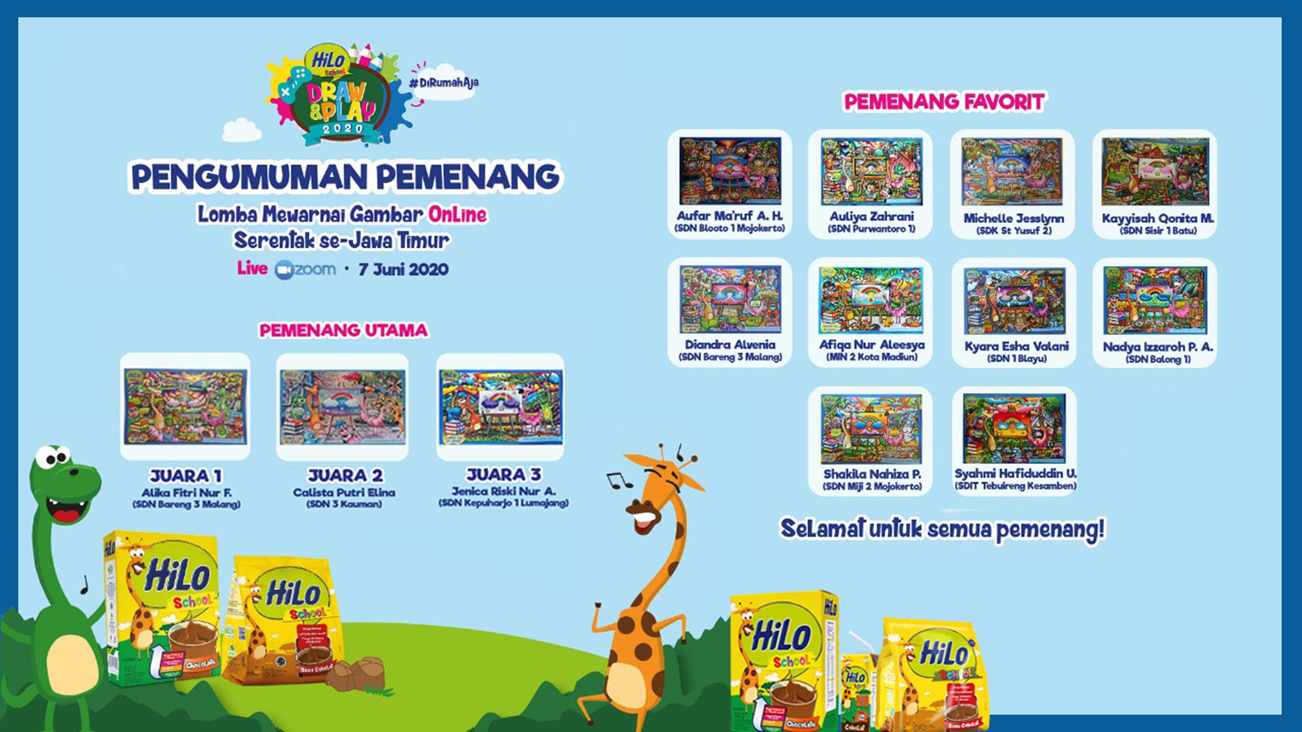 Ikuti Lomba Mewarna Online Afiqa Peroleh Juara Favorit se-Jawa Timur