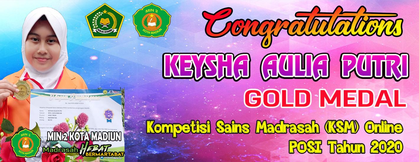 10. Keysha Juara Sains