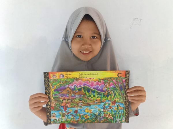 Aulia Juarai Coloring Competition Indonesia Talent Show 3 East Java