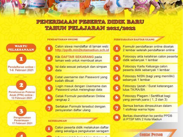 Informasi Penerimaan Peserta Didik Baru (PPDB) Tahun Pelajaran 2021/2022