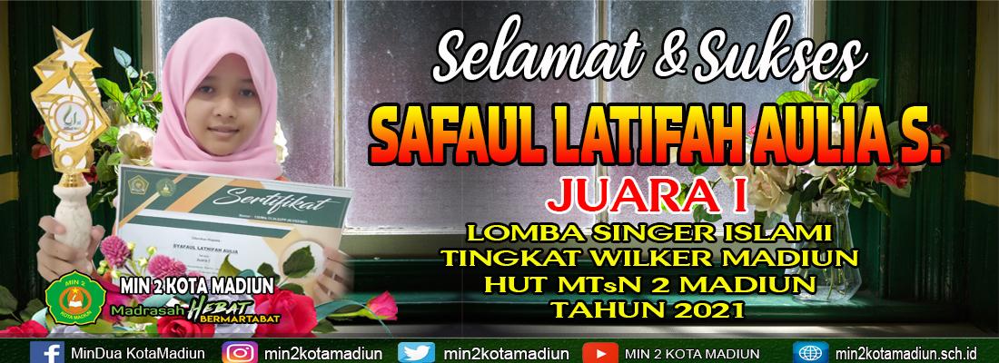 Syafaul, Juara 1 Lomba Singer Islami HUT MTsN 2 Madiun