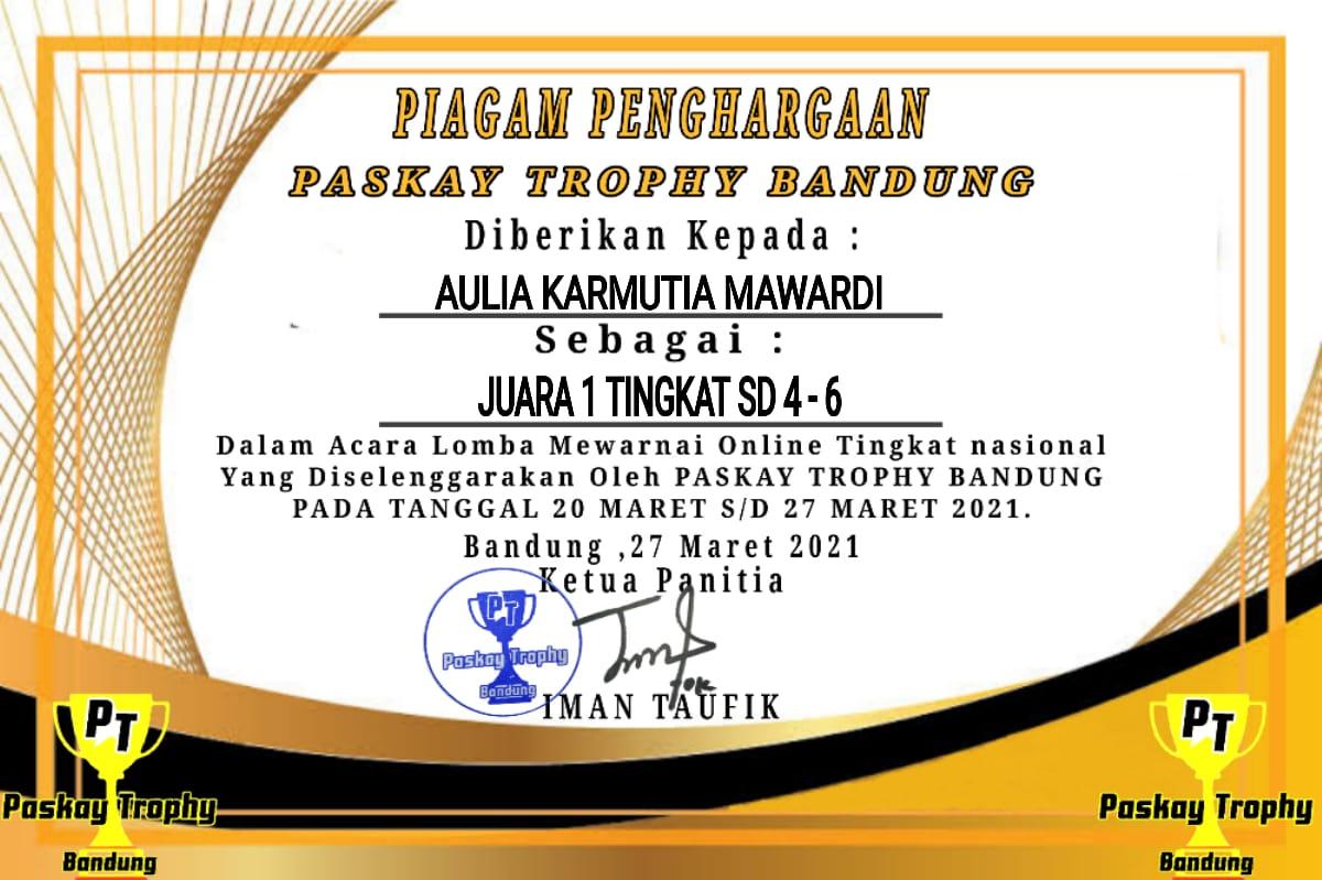 Hebat! Siswi MIN 2 Kota Madiun Raih Juara I Lomba Mewarnai Online Tingkat Nasional
